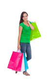Stunning young woman carrying shopping bags Stock Image