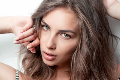 Stunning young woman with curly hair Royalty Free Stock Photo