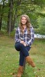 Stunning young woman fishing Stock Photography
