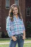 Stunning young woman posing in western wear - tap dance Stock Photo