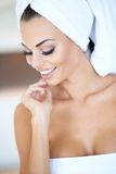Stunning young woman relaxing in a spa Royalty Free Stock Photography