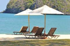 Stunningly beautiful beach in Tanjung Rhu Beach, Langkawi, Malaysia royalty free stock photography
