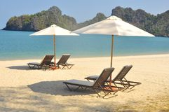 Stunningly beautiful beach in Tanjung Rhu Beach, Langkawi, Malaysia royalty free stock photos