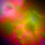 Stunningly beautiful cosmic landscapes of the universe. Royalty Free Stock Images