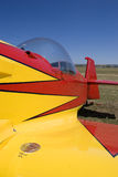Stunt airplane. In the championship of the world in Burgos, Spain royalty free stock images