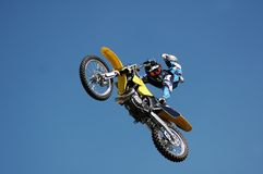 Stunt Biker. Royalty Free Stock Photo