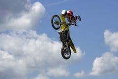 Stunt Biker. Long Island, New York  August 9 2008 Royalty Free Stock Images