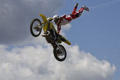 Stunt Biker Stock Photo