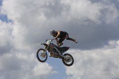 Stunt Biker stock photo