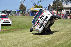 Stunt Driving. The Toyota Hilux, Stunt Driving Team, performed at the Royal Geelong Show, victoria, Australia. The show is in it`s 155th year Stock Photo