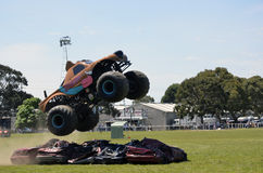 Stunt Driving. Monster truck Scooby-Doo came out from USA to perform at the Royal Geelong Show in Victoria Australia. The show is now in it`s 155th year, and Stock Photos