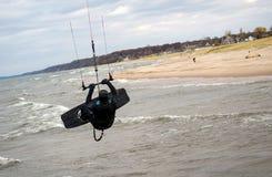 Stunt Kite boarder Royalty Free Stock Photos