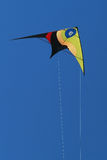 Stunt-kite flying. Colourful stunt-kite flying on a blue sky background Royalty Free Stock Photography