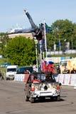 Stunt man Vasiliy Sparov makes trick Stock Photo