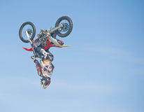 Stunt at Nairn Agricultural Show. Royalty Free Stock Photo