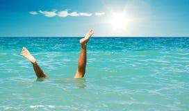 Stunt onder water Royalty-vrije Stock Afbeelding