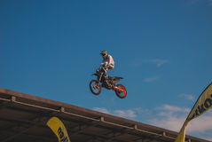 Stunt. Photo of a stunt by ktm Royalty Free Stock Photo
