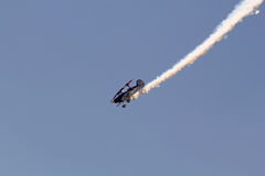 Stunt Plane. Stunt pilot performing aerobatics at Falcon Field at the Great Georgia Air Show in Peachtree City, GA, June 9, 2010, USA Stock Images