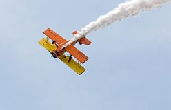 Stunt Plane. Doing a loop at an airshow stock images