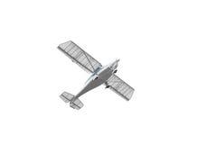 Stunt plane. Isolated on white royalty free stock photography