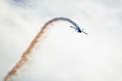 Stunt Plane Looping Stock Images