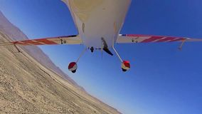 Stunt Plane Over Borrego Box POV 5 TAKEOFF stock footage