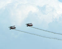 Stunt Planes. Performing at an airshow Royalty Free Stock Photos