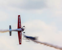 Stunt planes in action. Stock Photos