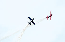Stunt planes in a air show Royalty Free Stock Photography