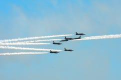 Stunt Planes Daring Maneuvers Royalty Free Stock Images
