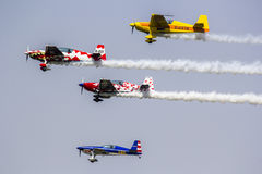Stunt Planes. Perform at an airshow stock photos