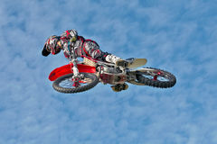 Stunt rider Royalty Free Stock Images