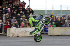 Stunt rider display Stock Photo