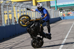 Stunt rider Royalty Free Stock Photo