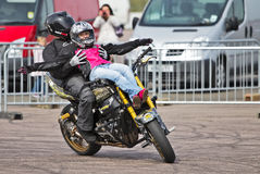 Stunt riders Royalty Free Stock Images