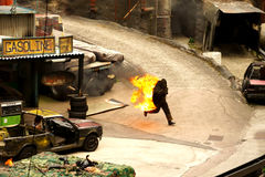 Stunt show Stock Images