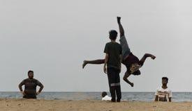 Stunt summer salt Royalty Free Stock Photo