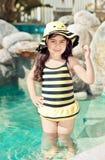 Stuntel bij zwemmen kostuum Stock Afbeeldingen