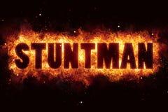 Stuntman κείμενο ακροβατικής επίδειξης στο κάψιμο έκρηξης φλογών πυρκαγιάς Στοκ φωτογραφίες με δικαίωμα ελεύθερης χρήσης