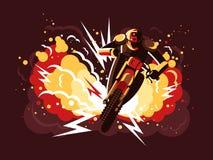Stuntman na motocyklu Zdjęcia Stock