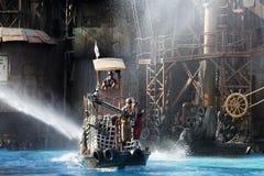 Stuntmans está en la acción Fotos de archivo