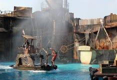 Stuntmans está na ação Fotografia de Stock