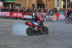 Stuntriding 2015年圣彼德堡 库存图片