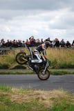 Stuntshow motocycle 免版税图库摄影
