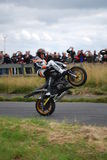 Stuntshow motocycle Stockbild