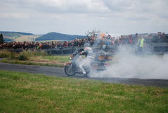 Stuntshow motocycle Stockbilder