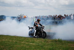 Stuntshow motocycle Stock Image