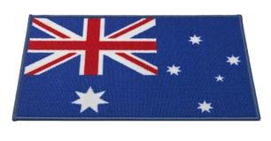 Stuoia benvenuta della bandiera australiana Fotografia Stock Libera da Diritti