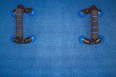 Stuoia blu 5 del fondo fotografie stock