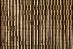 Stuoia del bambù di Brown Fotografia Stock Libera da Diritti